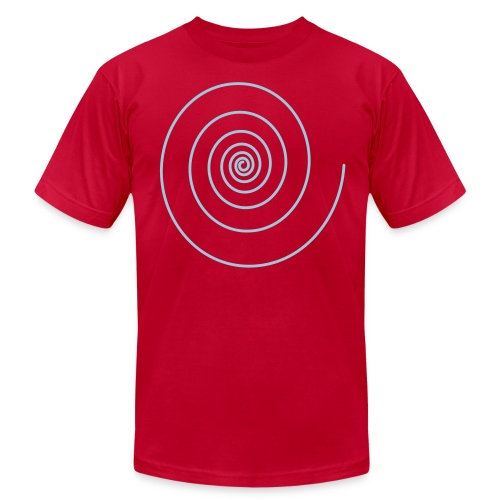 Logarithmic Spiral Hipster - Men's T-Shirt by American Apparel