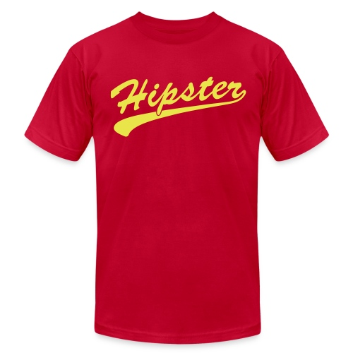 Hipster Scroll - Men's T-Shirt by American Apparel