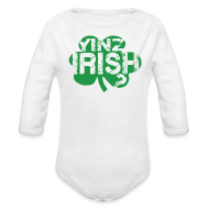 Baby Bodysuits ~ Baby Long Sleeve One Piece ~ Yinz Irish? Baby - Green Cutout