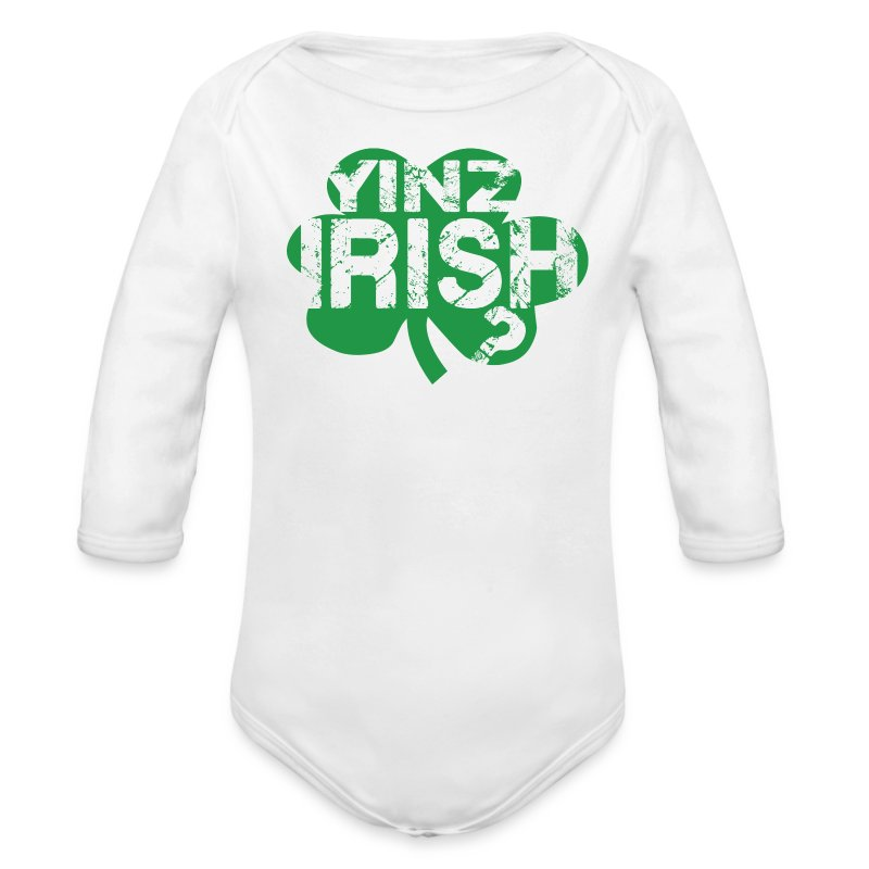 Yinz Irish? Baby - Green Cutout - Long Sleeve Baby Bodysuit