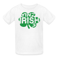 Kids' Shirts ~ Kids' T-Shirt ~ Yinz Irish? Kids T-shirt - Green Cutout