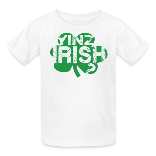 Yinz Irish? Kids T-shirt - Green Cutout - Kids' T-Shirt