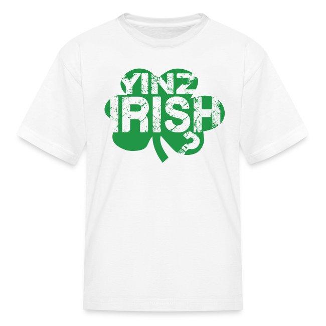 Yinz Irish? Kids T-shirt - Green Cutout