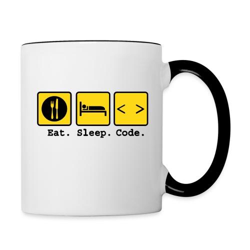 Eat Sleep Code Contrast Mug - Contrast Coffee Mug