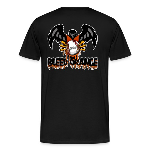 Bleed Orange Front and Back - Men's Premium T-Shirt