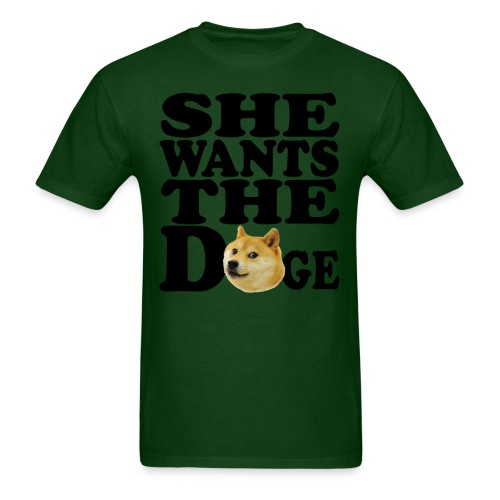 She wants the Doge - Men's T-Shirt