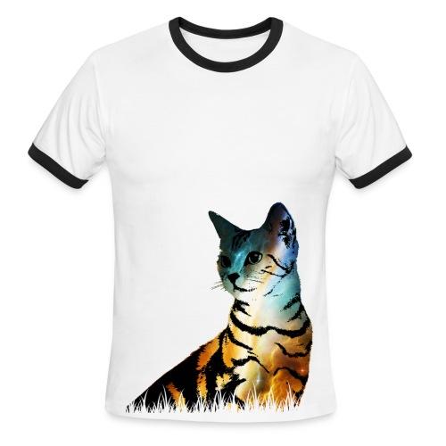 Galaxy Kat Tee - Men's Ringer T-Shirt