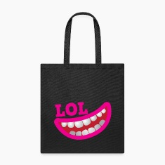 LOL happy smiling teeth with open mouth joke Bags & backpacks