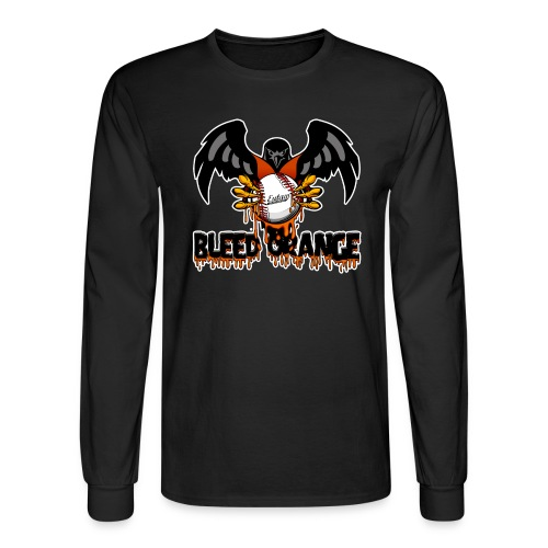 Bleed Orange Front Only Long Sleeve - Men's Long Sleeve T-Shirt