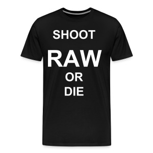 SHOOT RAW! - Men's Premium T-Shirt