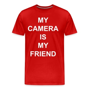 My Camera Is My Friend (White Text) - Men's Premium T-Shirt