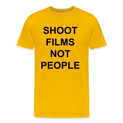 Shoot Films Not People (Black Text) - Men's Premium T-Shirt