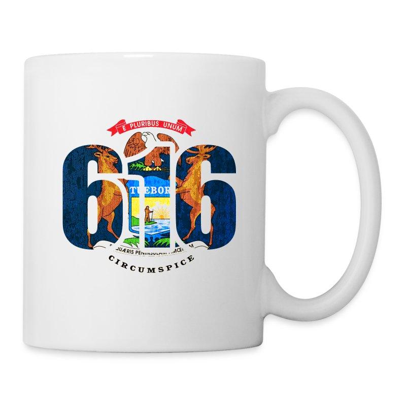 616 michigan area code flag clothing apparel mug spreadshirt for 6016 area code