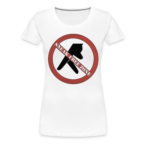 Sneak Free Zone  - Women's Premium T-Shirt