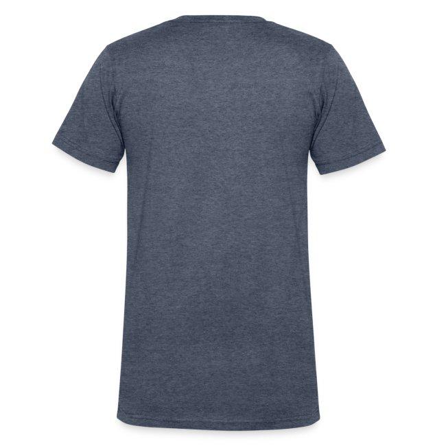 Men's V-Neck T-Shirt (Black Print)