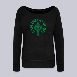 San Diego Irish Celtic Cross - Women's Wideneck Sweatshirt