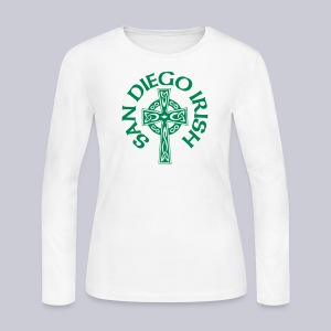 San Diego Irish Celtic Cross - Women's Long Sleeve Jersey T-Shirt