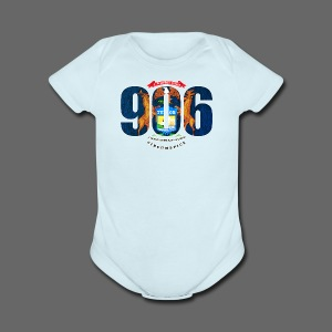 906 Michigan Flag - Short Sleeve Baby Bodysuit