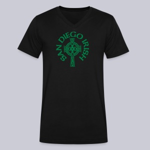 San Diego Irish Celtic Cross  - Men's V-Neck T-Shirt by Canvas