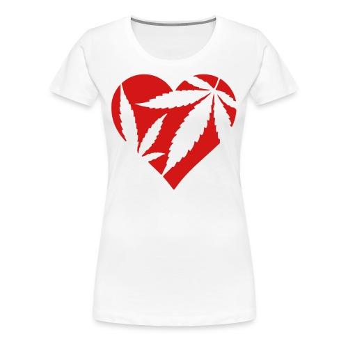 pot leaf heart t shirt - Women's Premium T-Shirt