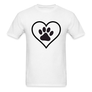 PAW IN HEART - Men's T-Shirt
