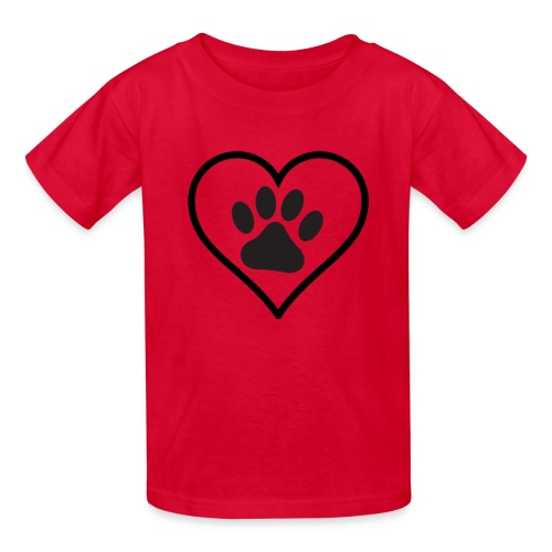 PAW IN HEART - Kids' T-Shirt