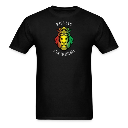 Kiss Me I'm Irieish T Black - Men's T-Shirt