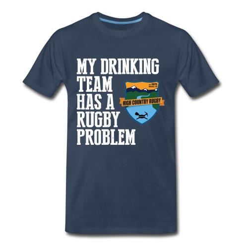 Drinking Team (wht) - Men's Premium T-Shirt