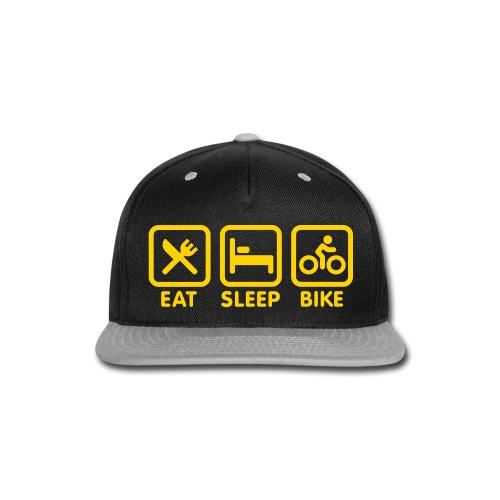 Eat Sleep Bike Snapback - Snap-back Baseball Cap