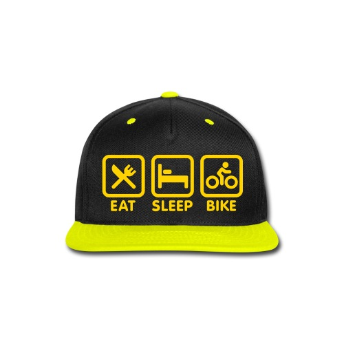 Eat Sleep Bike Snapback - Snap-back Baseball Cap