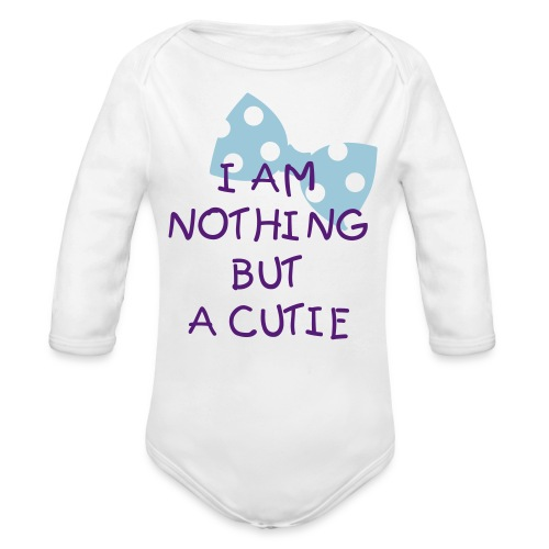 CUTIE ONLY - Organic Long Sleeve Baby Bodysuit