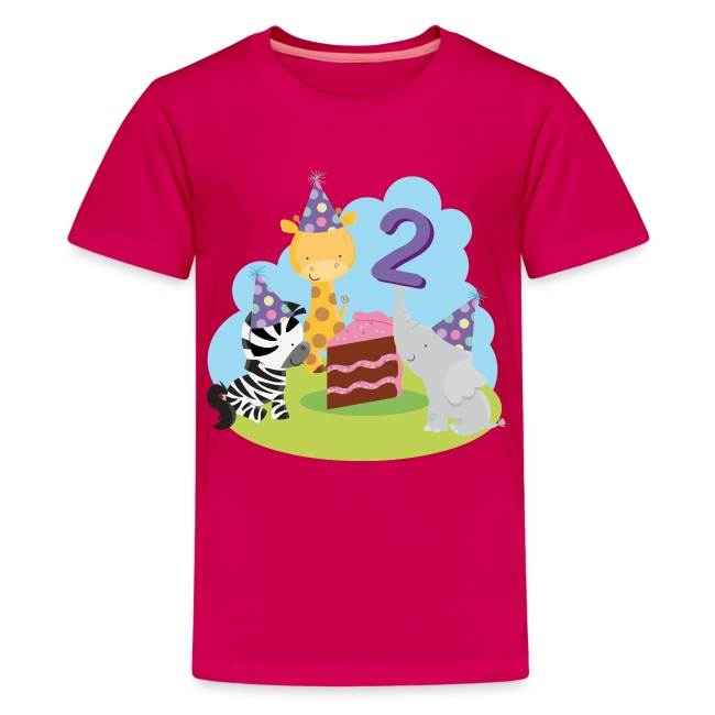 2nd Birthday Kids T Shirt Animal Party