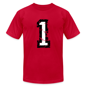 Number One T-Shirt No.1 (Men Red) - Men's T-Shirt by American Apparel