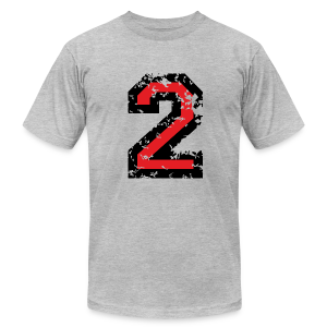 Number Two T-Shirt No.2 (Men Grey) - Men's Fine Jersey T-Shirt