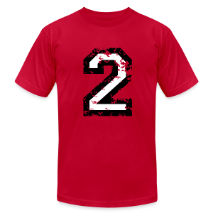 Number Two T-Shirt No.2 (Men Red) - Men's Fine Jersey T-Shirt