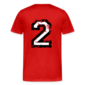 Number Two T-Shirt No.2 (Men Red) Back - Men's Premium T-Shirt