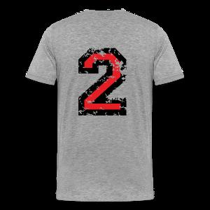 Number Two T-Shirt No.2 (Men Grey) Back - Men's Premium T-Shirt