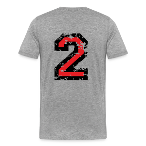 Number Two T-Shirt No.2 (Men Grey) Back - Men's Premium T-Shirt