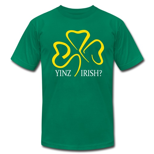 Yinz Irish - Men's T-Shirt by American Apparel