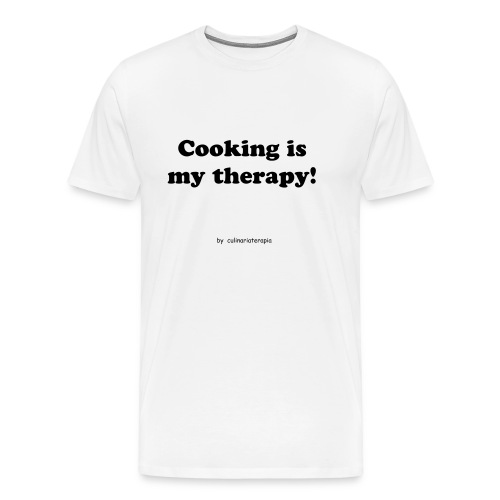 Cooking is my therapy! - Men's Premium T-Shirt
