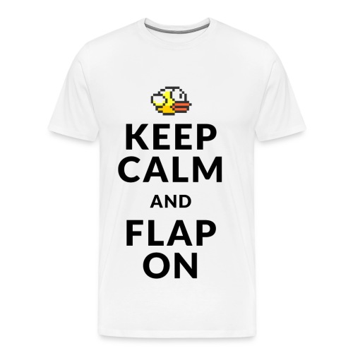 Keep Calm and Flap On - Men's Premium T-Shirt