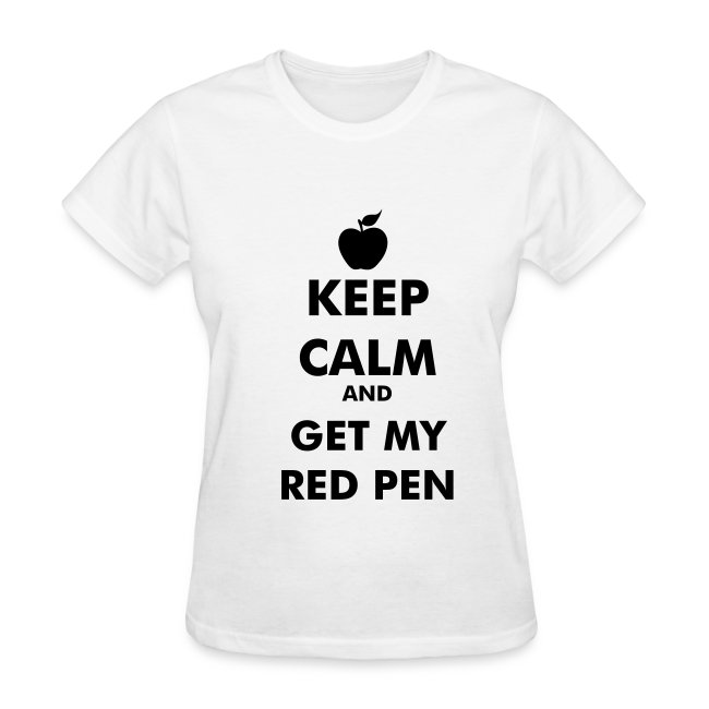 Keep Calm and Get My Red Pen