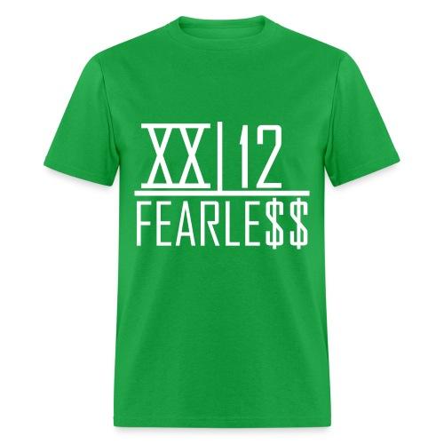 XX12 Fearless Tee White Word - Men's T-Shirt