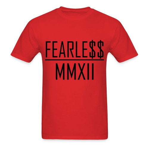 Fearle$$ MMXII Black Text Tee - Men's T-Shirt