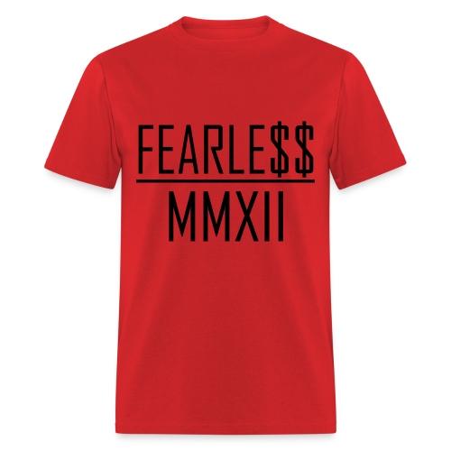 Fearle$$ MMXII Black Text Tee - Men's T-Shirt