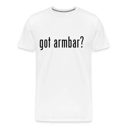 Got Armbar Ronda Rousey Inspired T-Shirt (Male) - Men's Premium T-Shirt
