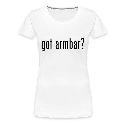 Got Amrbar Ronda Rousey Inspired T-Shirt (Female) - Women's Premium T-Shirt