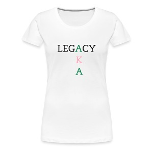 (fitted tee) Alpha Kappa Alpha Legacy - Women's Premium T-Shirt