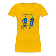 Women's T-Shirts ~ Women's Premium T-Shirt ~ Swedes On Bikes Women's T-Shirt