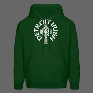 Detroit Irish Celtic Cross  - Men's Hoodie